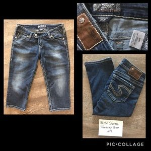 Silver Tuesday Crop Capri Jeans